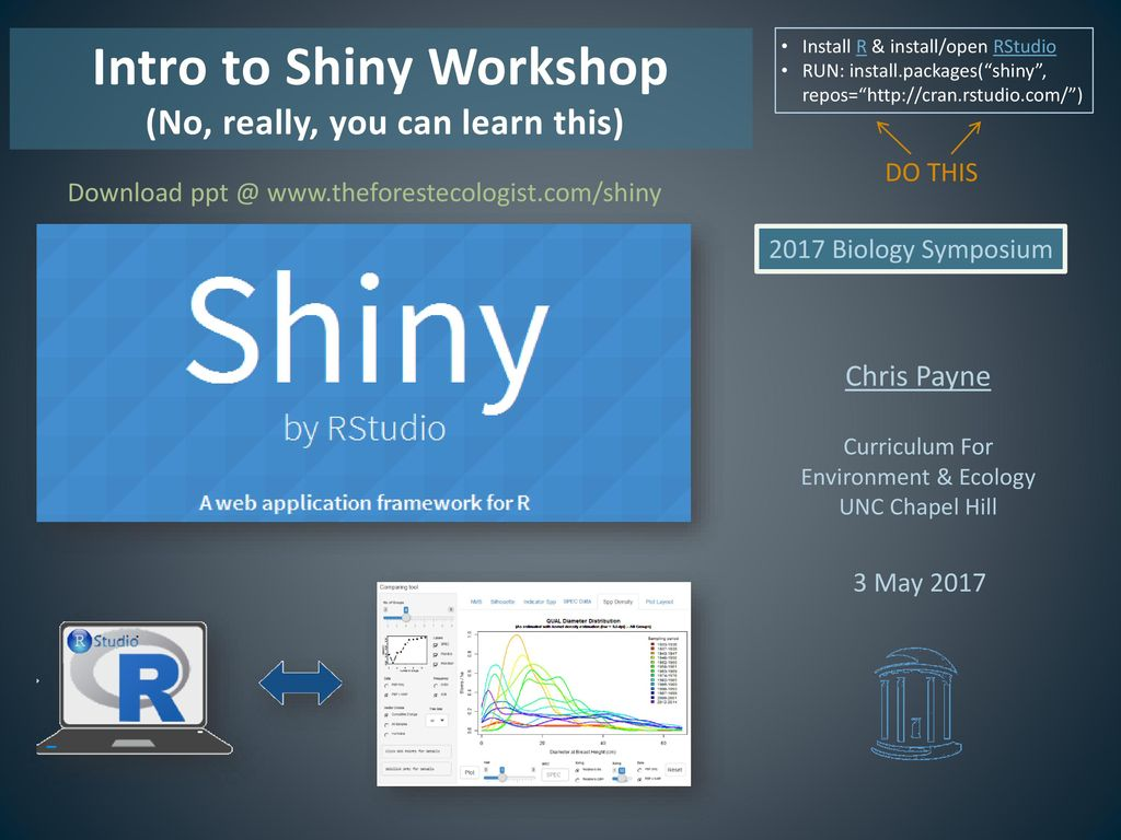 Intro to Shiny Workshop (No, really, you can learn this