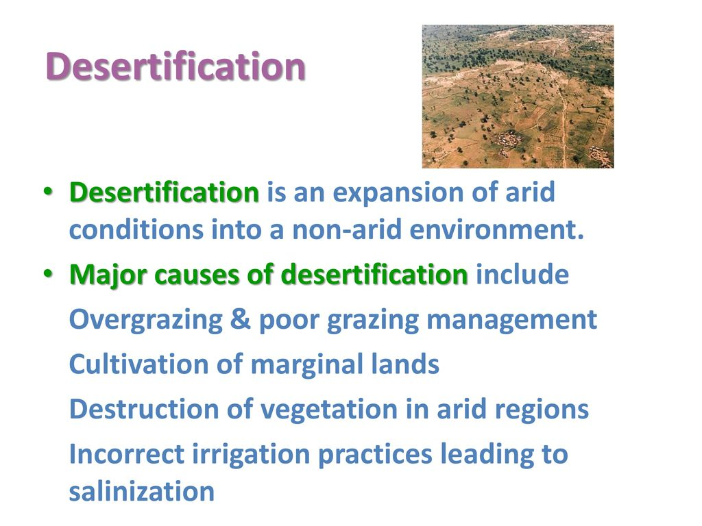 two causes of desertification