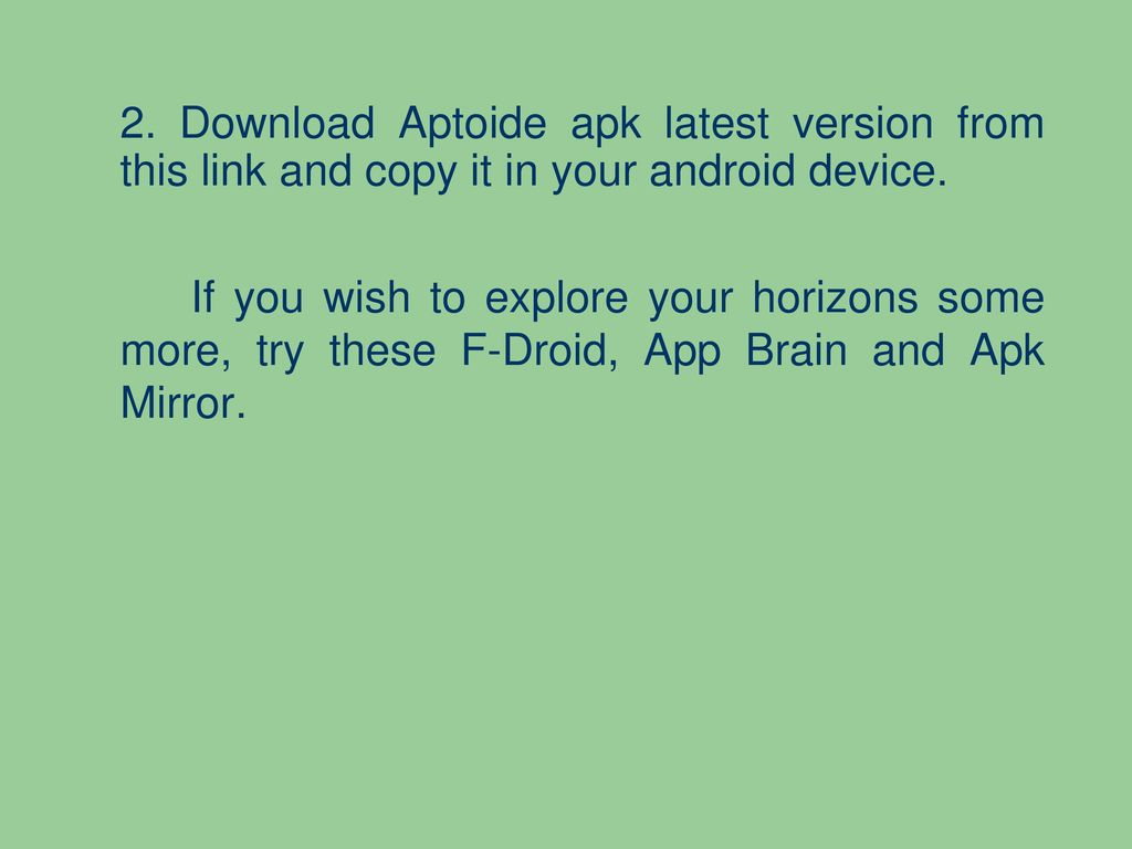 How to Install Aptoide Apk on Android - ppt download
