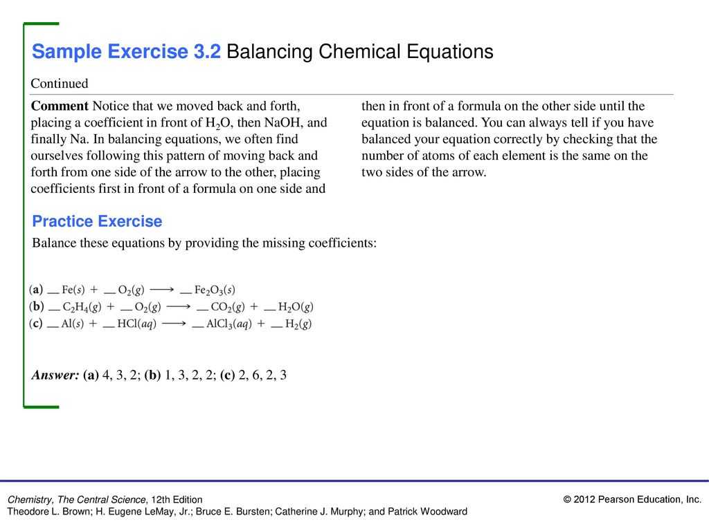 images Sample Chemical Equations