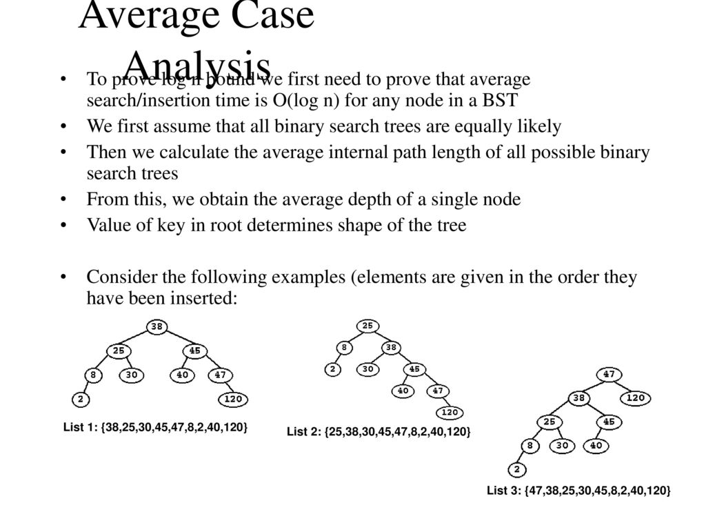 Binary Search Trees A binary search tree is a binary tree