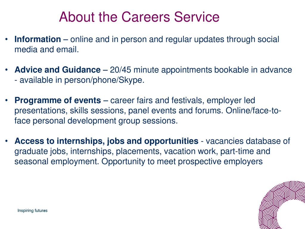 Introduction to the Careers Service School of HCA