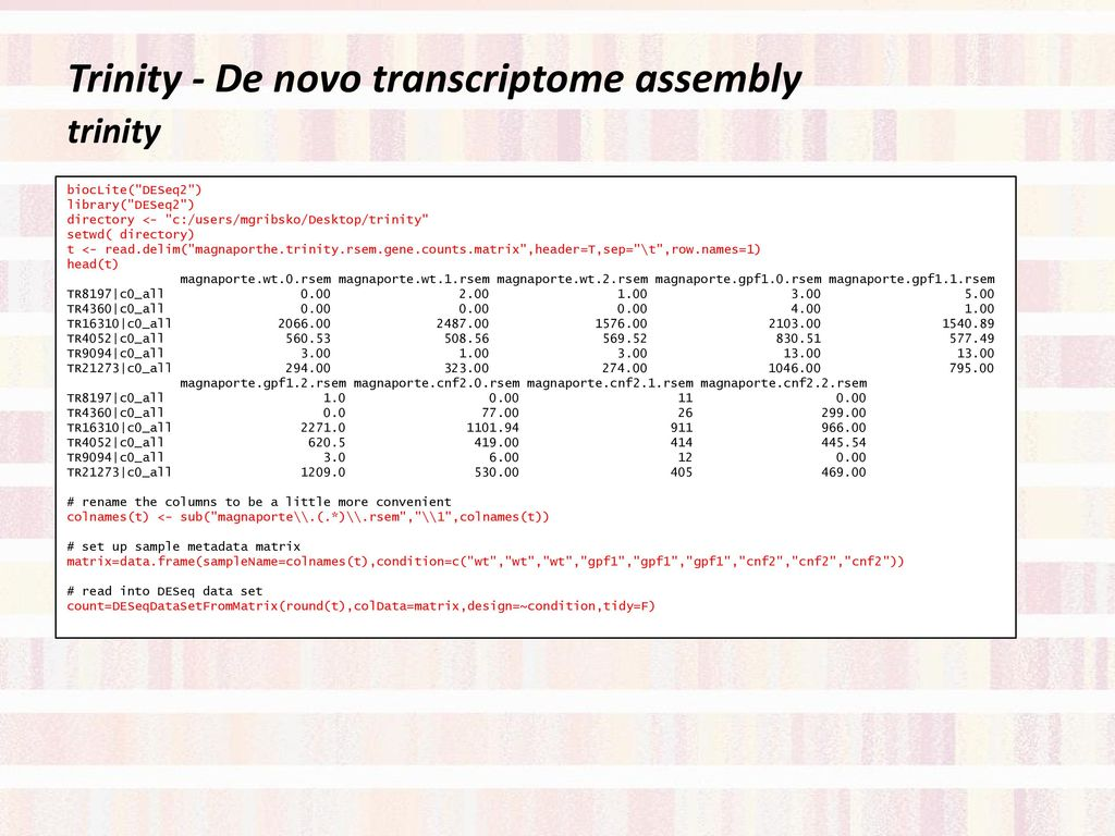 Next – generation Transcriptome Analysis Workshop - ppt download