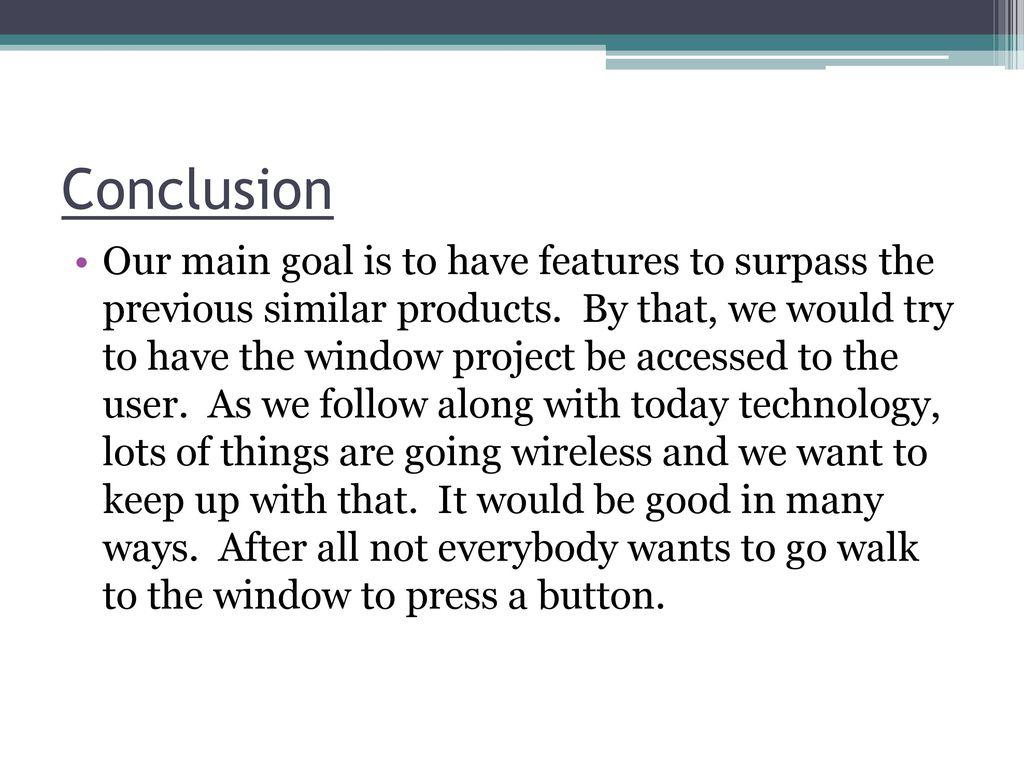 Winsteon Automated Window Ppt Download Hardwareblockdiagramjpg 12 Conclusion