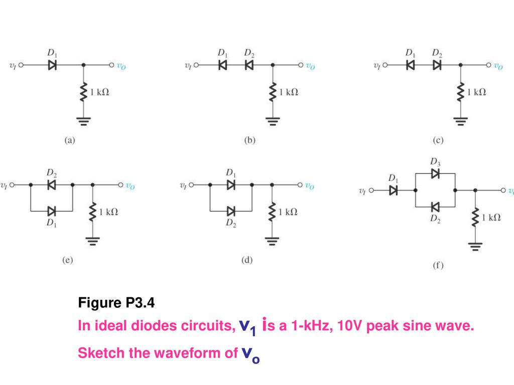 Diodes Ppt Download Super Steady Zener Diode Circuit In Ideal Circuits V1 Is A 1 Khz 10v Peak Sine Wave