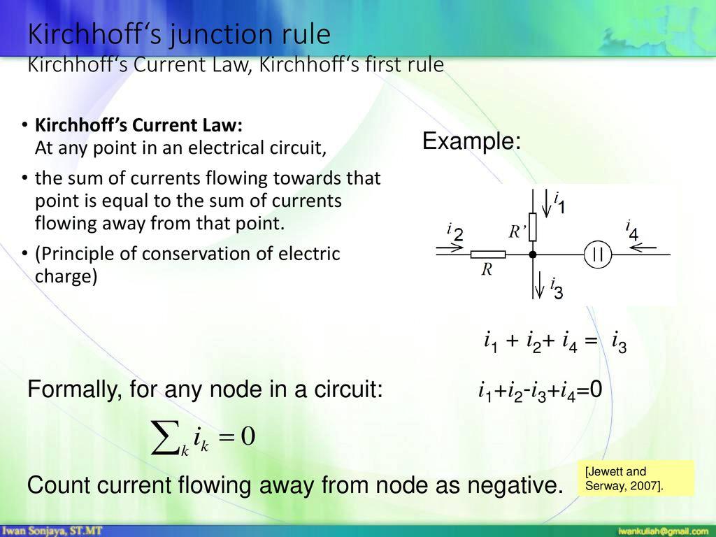 Communication Iwan Sonjaya Mt Springer Ppt Download Jewett Wiring Diagram 19 Kirchhoffs