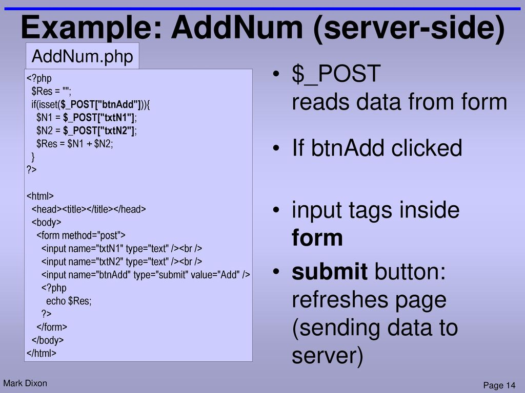 18 – Web applications: Server-side code (PhP) - ppt download