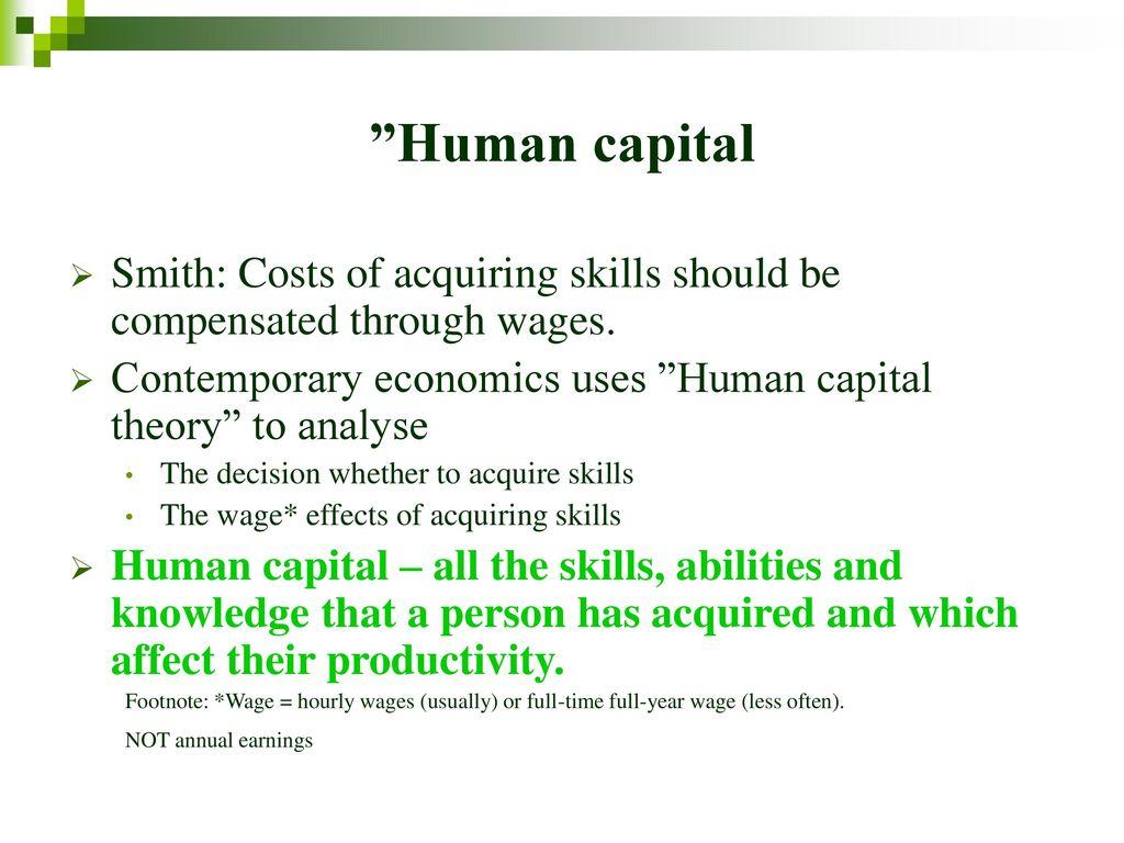human capital theory economics