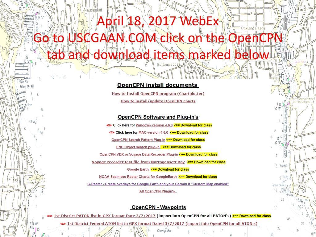 WELCOME – NS WebEx Training Garmin 78S GPS Google Earth