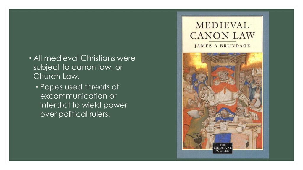 medieval canon law