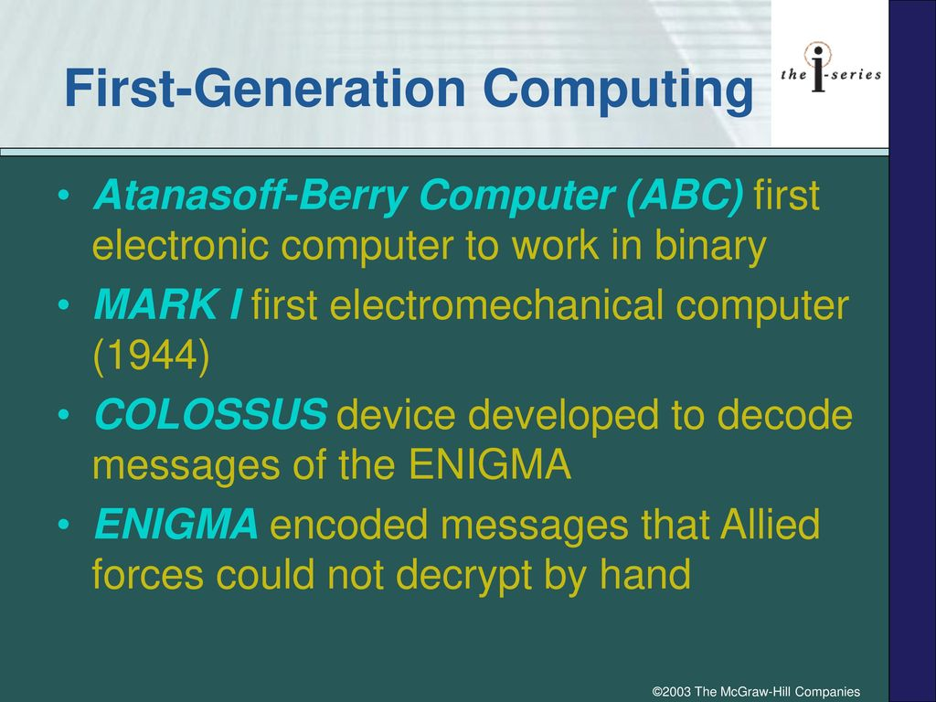 The History Of Computing Ppt Download Computergeneration Computer Try To Educate First Generation