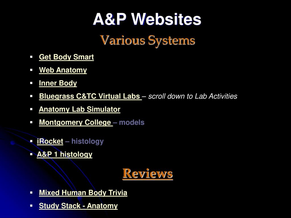 Biol 203 Web Pages To Help You Study Labs Ppt Download