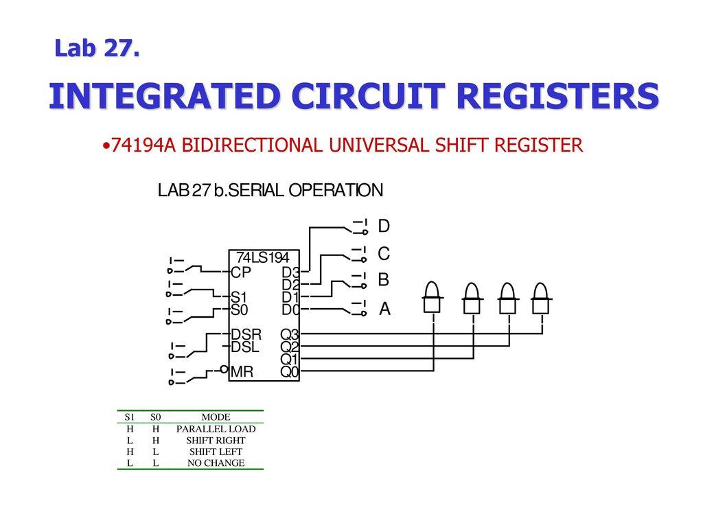 Logic Diagram Of Universal Shift Register Wiring Library 1 Dimebucker Humbucker Volume Tone 3 Way Switch 74194a Bidirectional