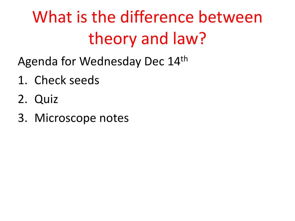 what is difference between theory and law