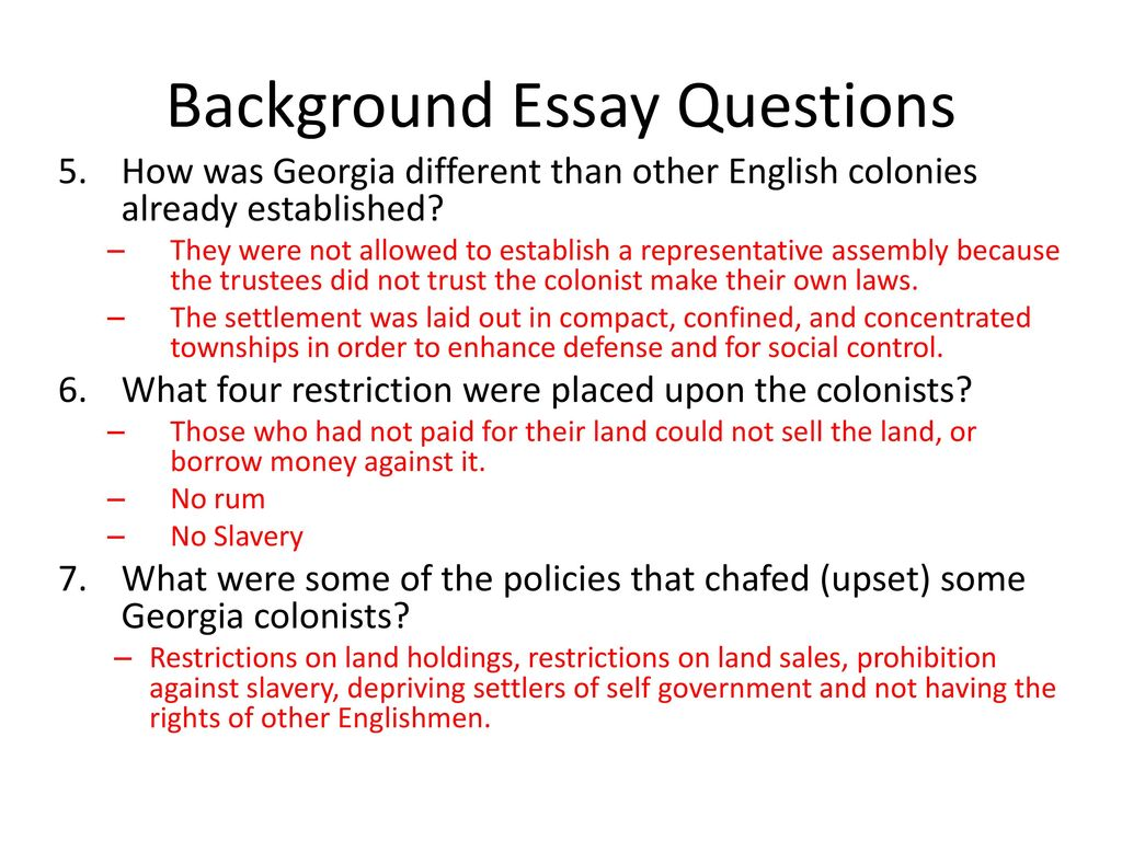 Background For Essay My Background Essay Example  Background Information Background For Essay