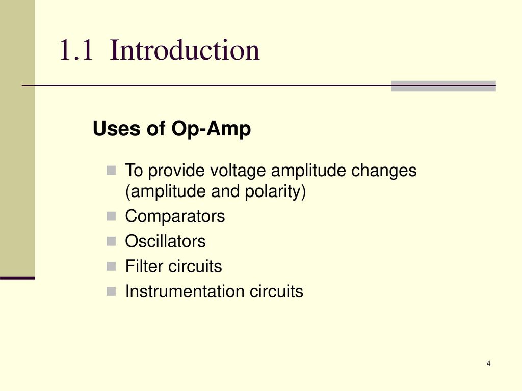 Analogue Electronic 2 Emt Ppt Download Using The Lm741 Construct Openloop Comparator Circuit Shown Be 11 Introduction Uses Of Op Amp