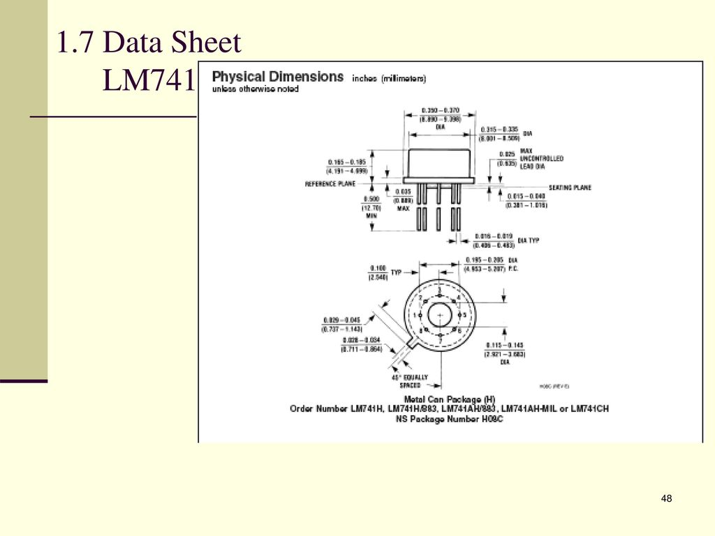 Analogue Electronic 2 Emt Ppt Download Using The Lm741 Construct Openloop Comparator Circuit Shown Be 48 17 Data Sheet