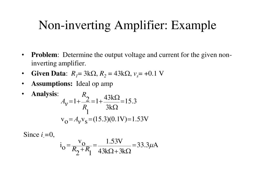 Bioelectronics 1 Lec8 Operational Amplifiers And Applications By Inverting Amplifier Vs Noninverting 11 Non