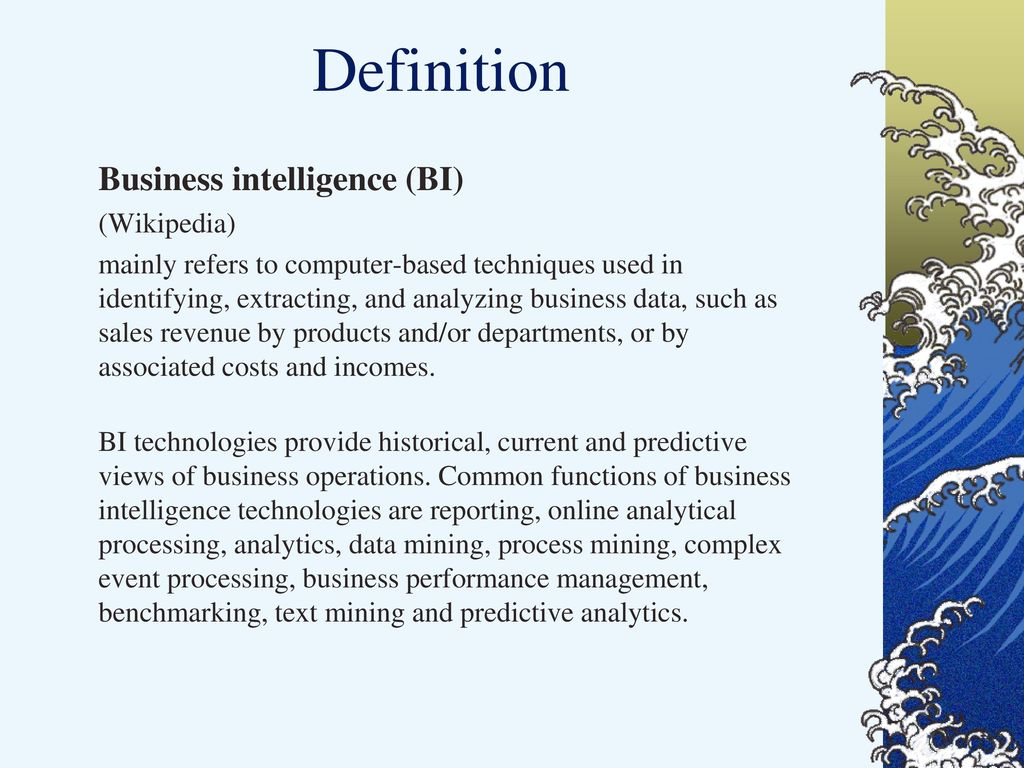 intelligent systems business motivation business intelligence - ppt