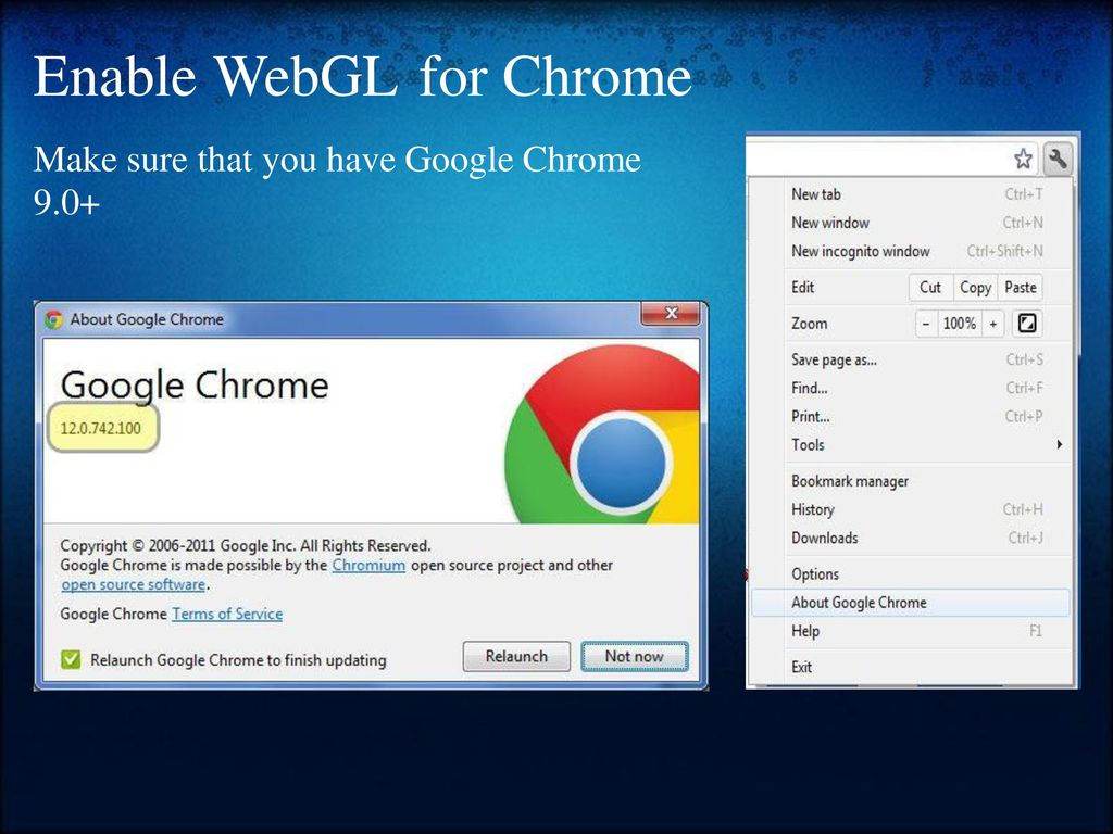 Webgl Chrome