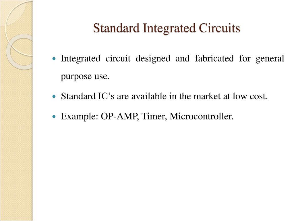 Vlsi Design Methodologies Ppt Download Uses Of Integrated Circuits Standard