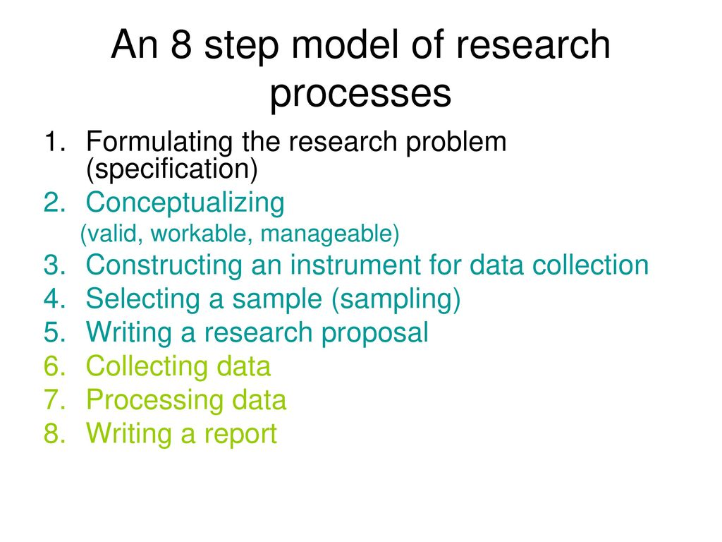 formulating a research proposal