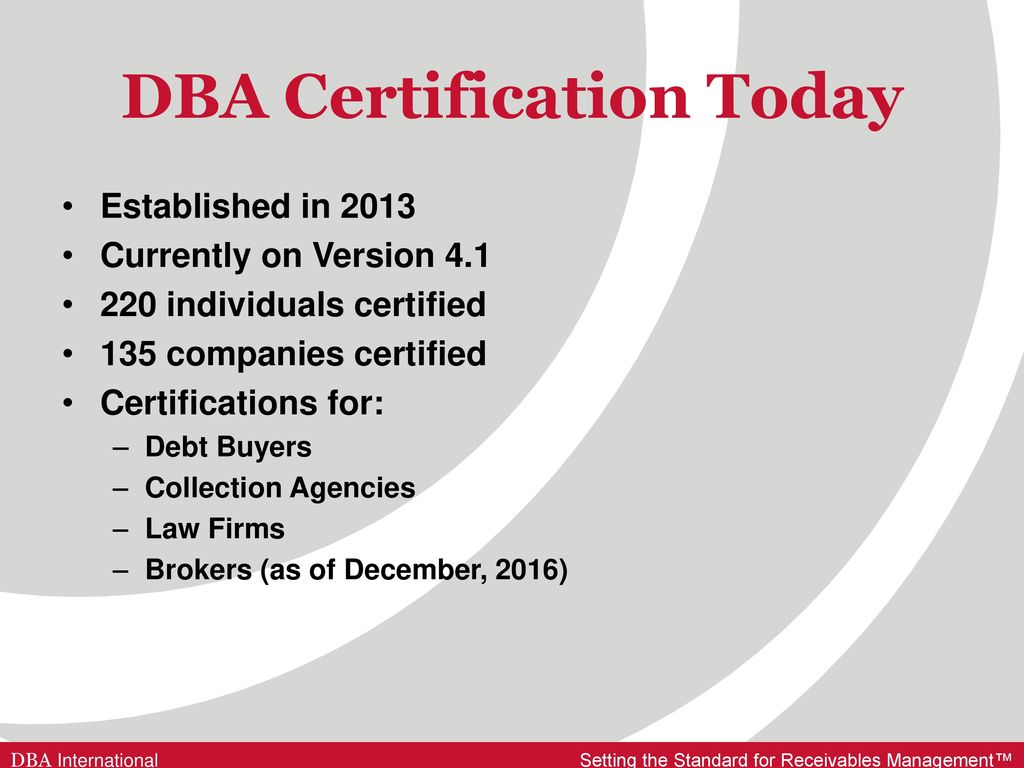 Dba Certification Is It Time For Canada Ppt Download