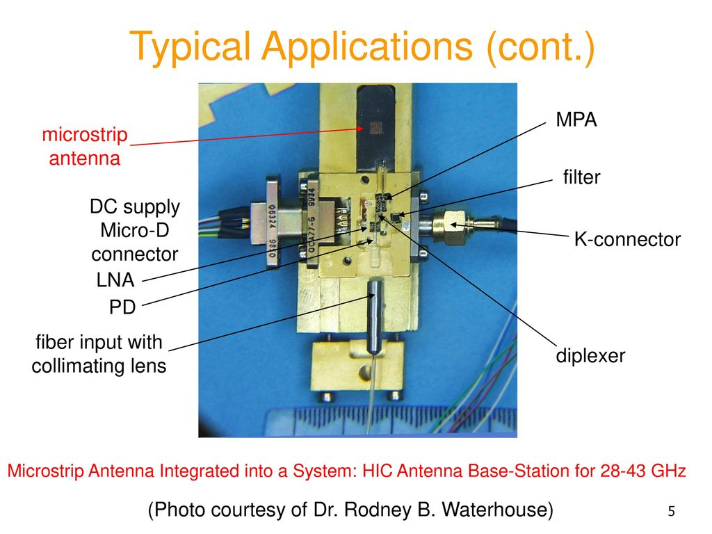 Overview Of Microstrip Antennas Ppt Download Jina Wiring Circuit Diagram 5 Typical Applications