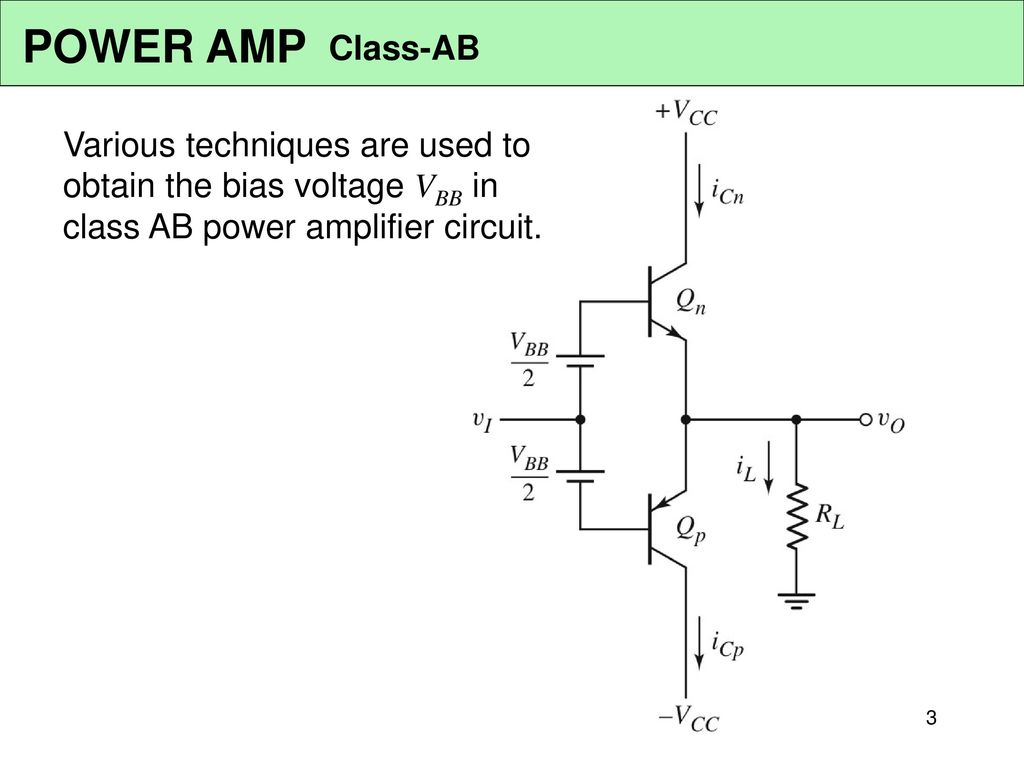 Power Amplifier Circuits Class Ab Ppt Download In 3