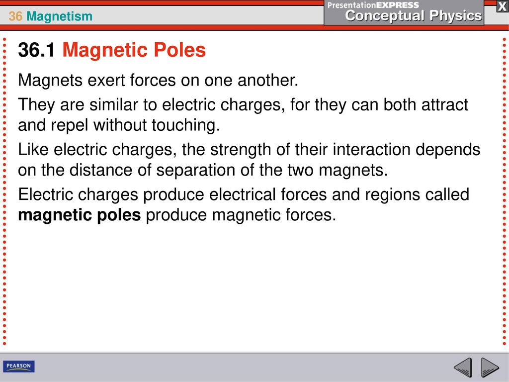 A moving electric charge is surrounded by a magnetic field