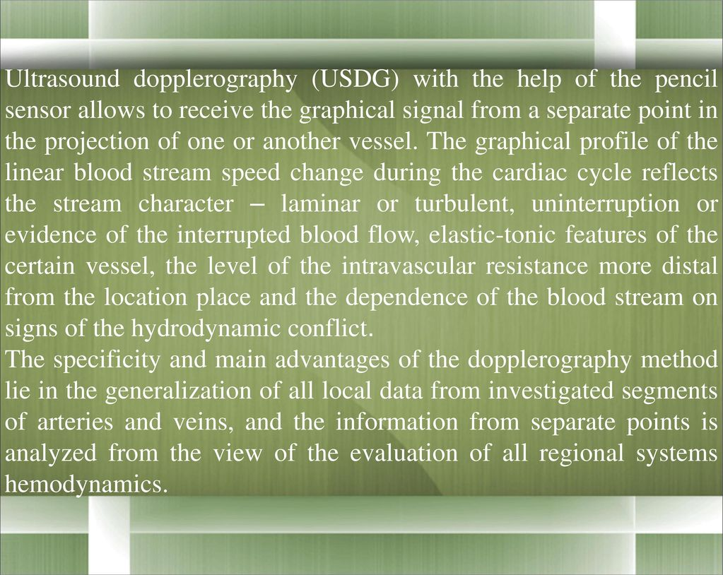 USDG of vessels of the head and neck. Indications and informative 42