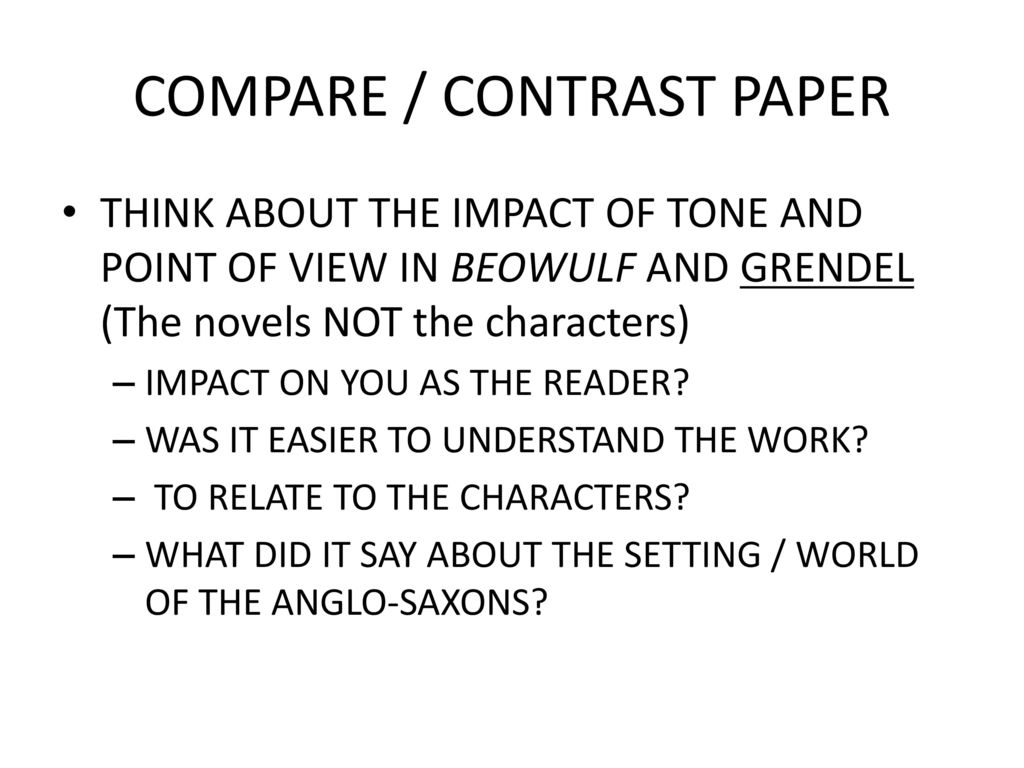 grendel and beowulf compare and contrast