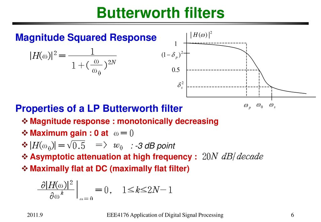 Lecture: IIR Filter Design - ppt download