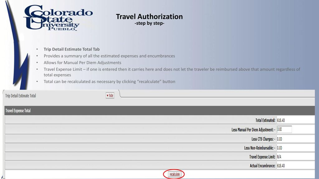 travel authorization step by step ppt download