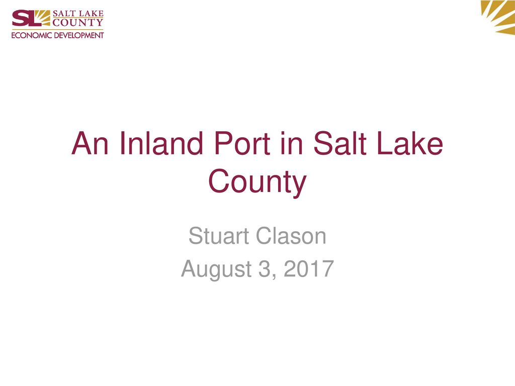 An Inland Port in Salt Lake County