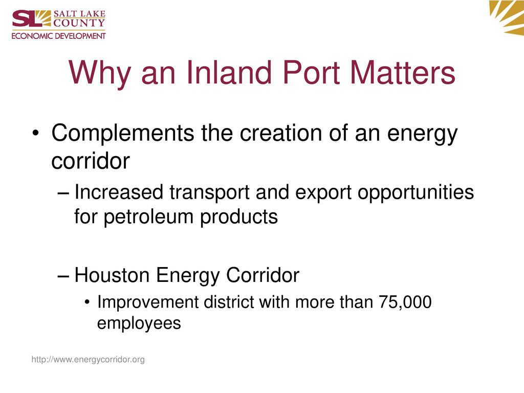 Why an Inland Port Matters