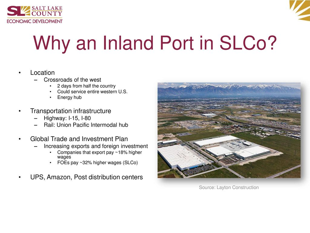 Why an Inland Port in SLCo