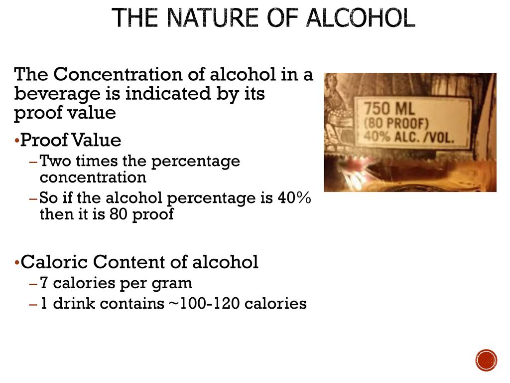 alcohol percentage to proof