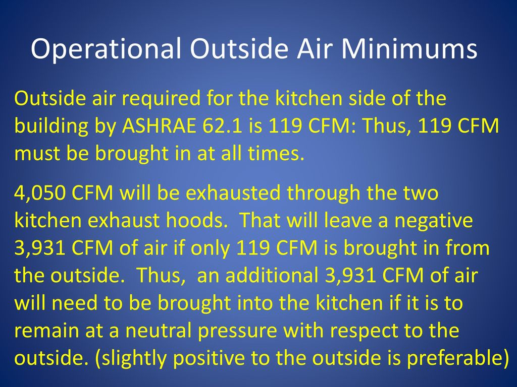Lesson 24 Appendix F Outside Air Calculation - ppt download