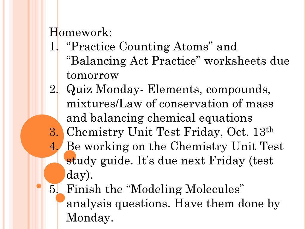 chemistry unit test practice
