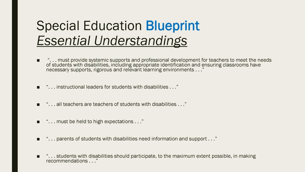 Special education updates ppt download special education blueprint essential understandings malvernweather Gallery