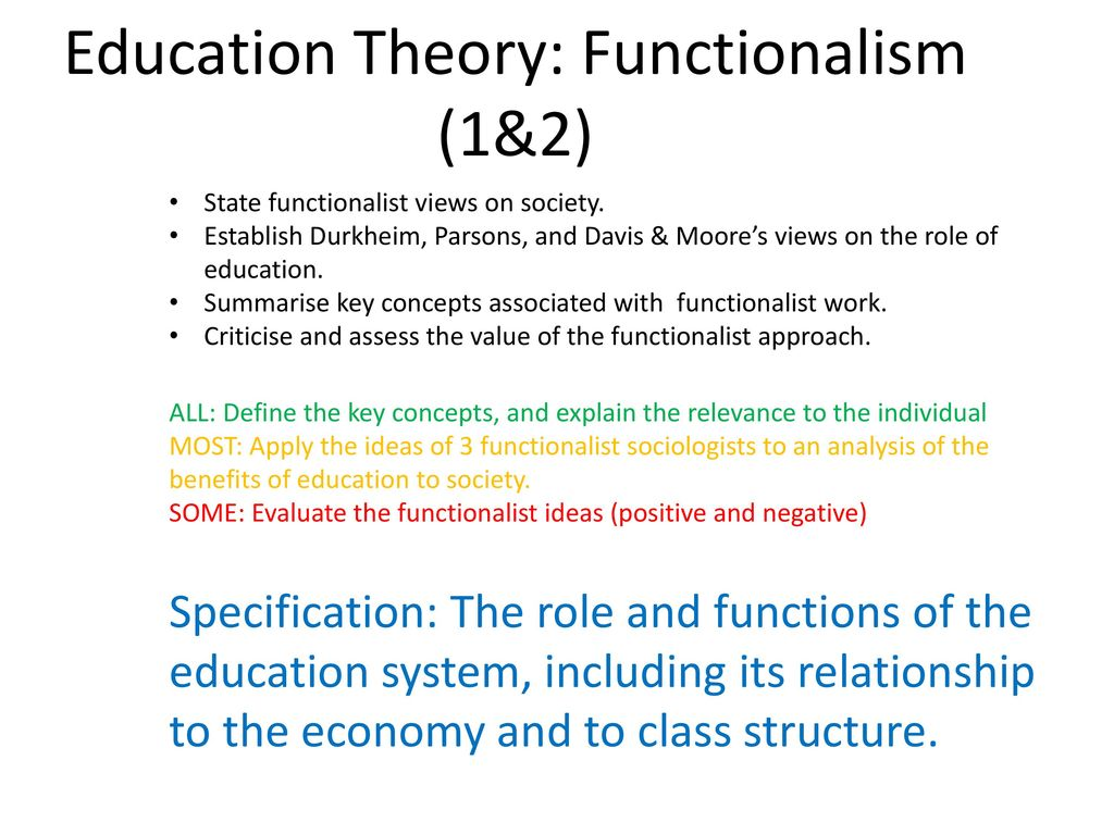 Education Theory Functionalism 9&9   ppt download