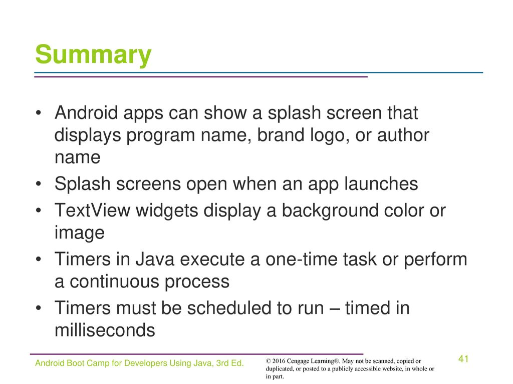 Android Boot Camp for Developers Using Java, 3E - ppt download