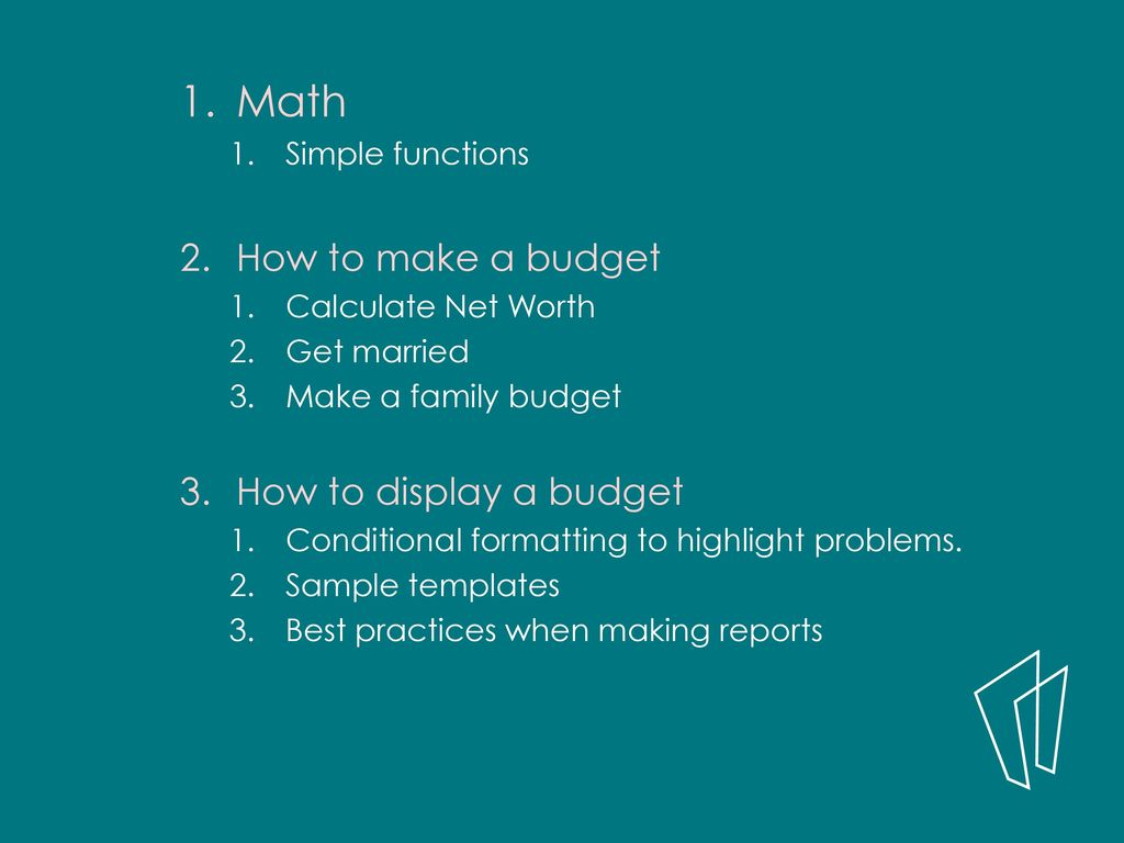 excel create a budget by martha nelson digital learning specialist
