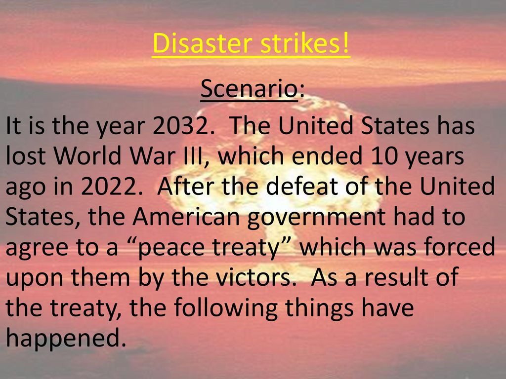 10th World Studies Today's Agenda: A Disaster… An election… - ppt