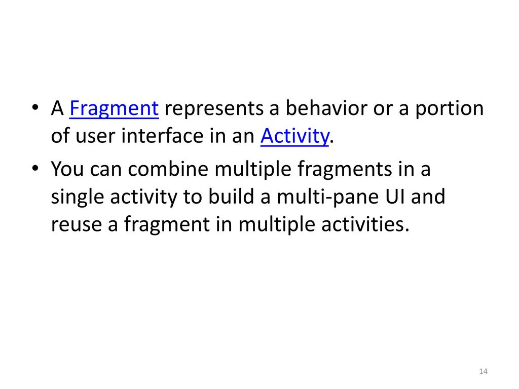 Android 3: Fragments: API Guide - ppt download