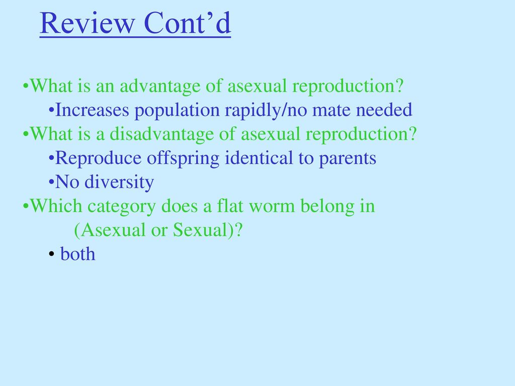 Advantages of sexual and asexual reproduction
