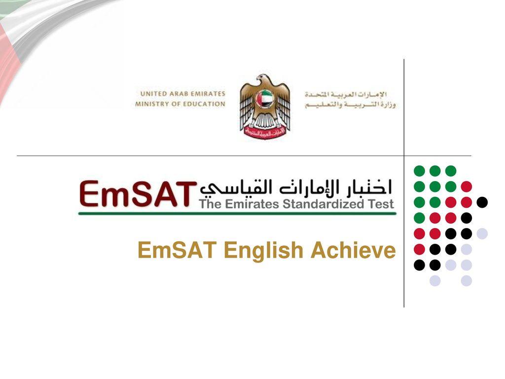 EmSAT English Achieve. - ppt download