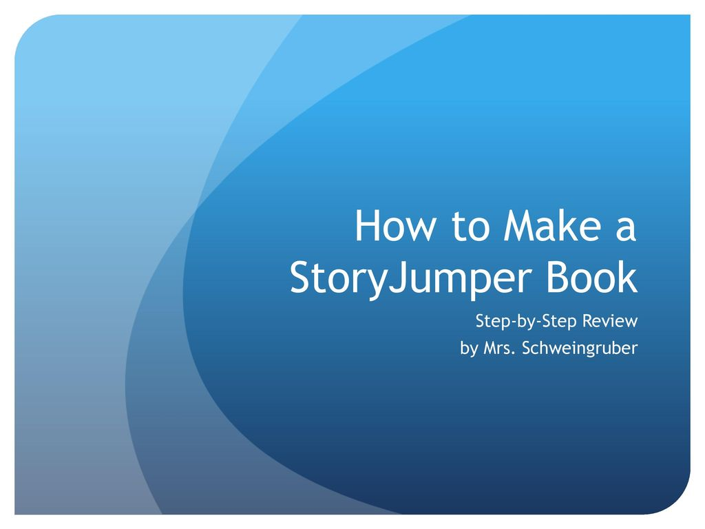 how to make a storyjumper book ppt download
