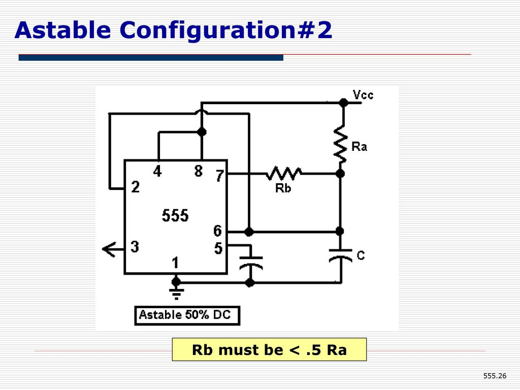 555 Timer Eee Department Kumpavat Harpal Ppt Download Dc To Ac Inverter Is Based On The Popular A Oscillator Circuit 26 Astable Configuration2